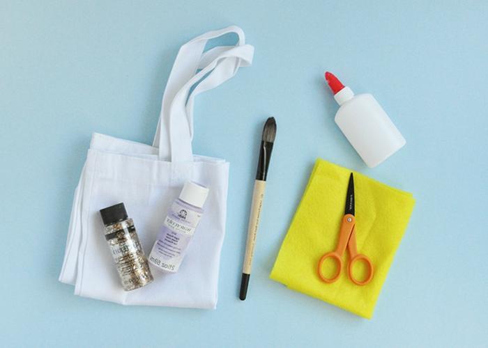 materiales necesarios para hacer bolsos de Halloween DIY paso a paso, manualidades de halloween originales y fáciles de hacer