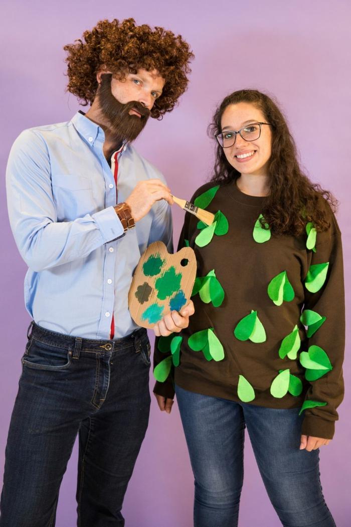 super sencillas ideas de trajes de carnaval para parejas, trajes de Halloween originales en fotos, disfraces simples y originales