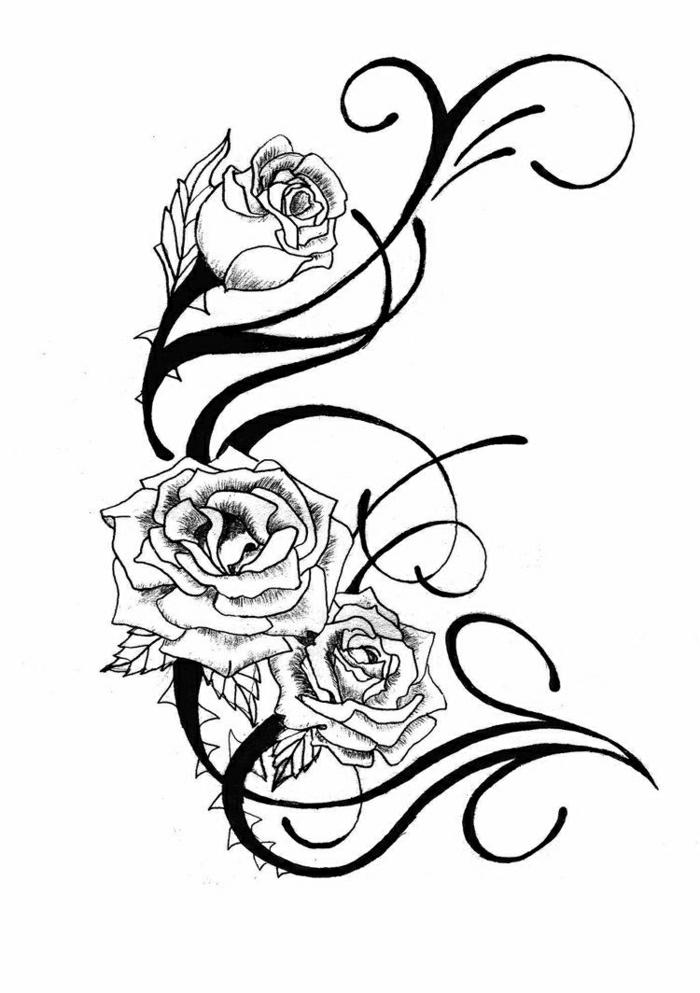 tatuajes para mujeres con flores y rosas, las mejores ideas de tattoos para hombres y mujres, tatuaje rosa amor romántico