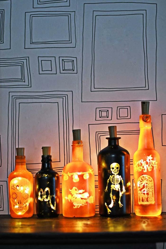 preciosas ideas de decoración Halloween que puedes realizar con materiales reciclados, fotos de decoración casera