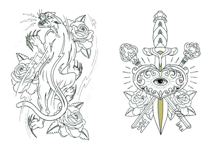 tatuajes tumblr originales para pequeños y adultos, diseños de tatuajes temporales, plantillas tattoos con flores y animales