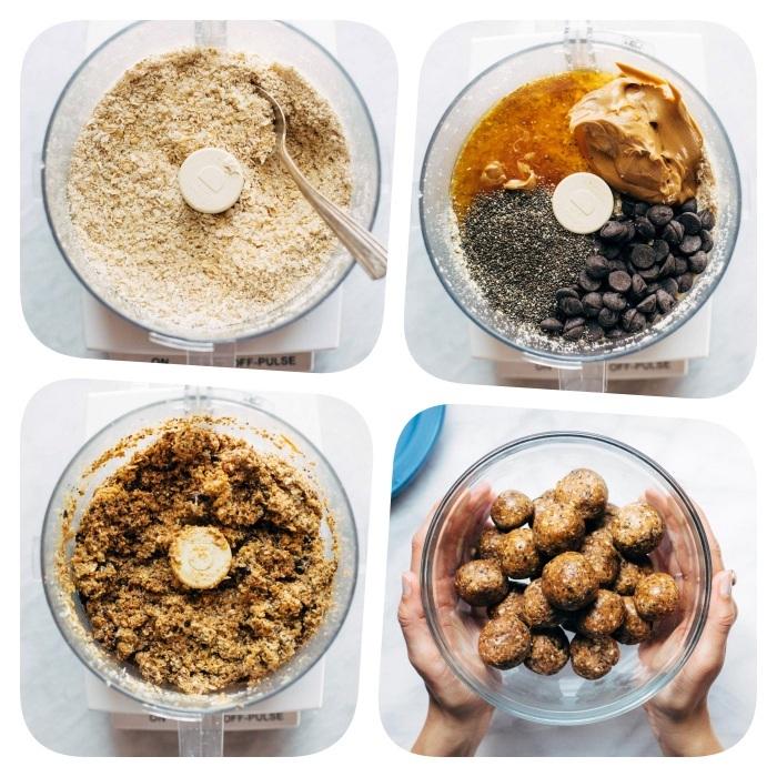 cómo hacer trufas sin horno paso a paso, recetas de galletas caseras, recetas de bocados de energía