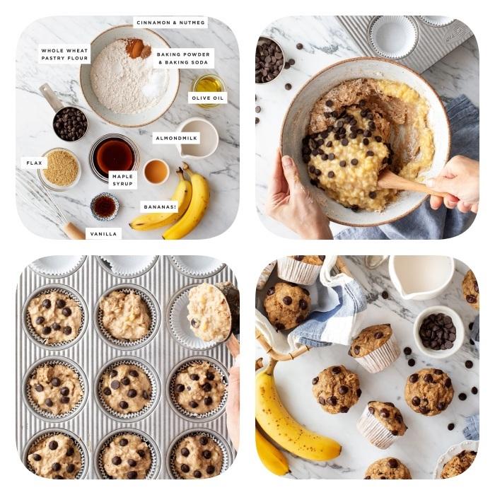 cómo hacer unas magdalenas de masa de galletas blandas, postres saludables y fáciles de hacer