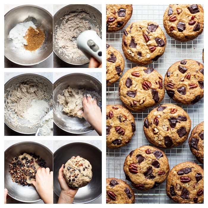 como hacer una masa de galletas saludables, receta de galletas de avena, recetas ricas y fáciles de hacer