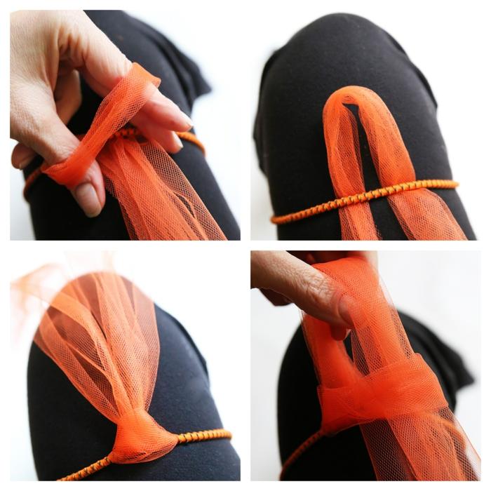 ideas sobre cómo hacer una falda de tul paso a paso, ideas para halloween disfraces en imágenes, disfraces hechos a mano para el día de halloween tutoriales