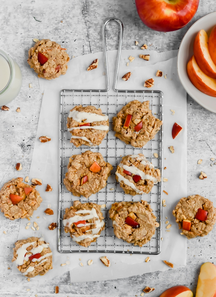 ideas de recetas de otoño, postres originales con frutas, galletas con avena y manzanas