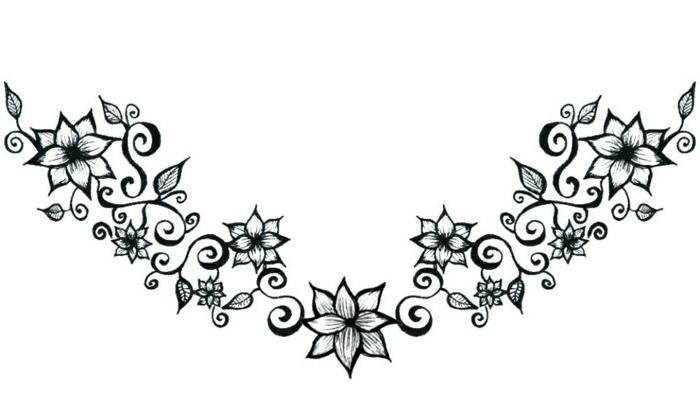bonitas ideas de tatuajes con flores, corona de flores, tatuajes originales con flores en fotos, diseños de tattoos bonitos