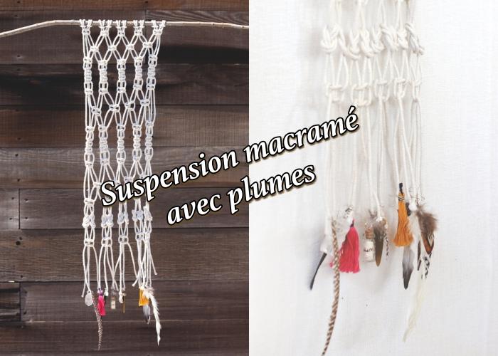 como hacer un colgante macrame decorado con borlas coloridas y plumas, las mejores ideas de decoracion en estilo bohemio