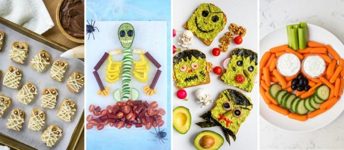 cuatro propuestas de galletas halloween faciles y aperitivos para el día más divertido del año, tostadas Halloween originales