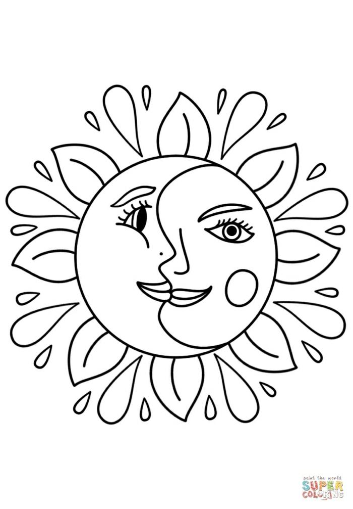 tatuaje sol luna, diseños de tatuajes que inspiran, motivos de tattoos para mujeres, diseños de tattoos bonitos en fotos