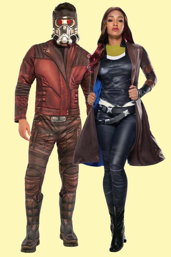 ideas de disfraces inspirados en las peliculas de Marvel, disfraces de superheroes, más de 80 propuestas de disfraces de novios