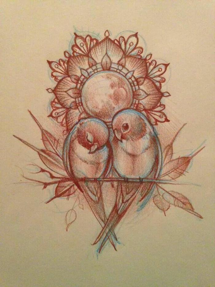 bonitos tatuajes con aves y animales, preciosos diseños de tattoos simbólicos, ideas de tatuajes que signifiquen amor