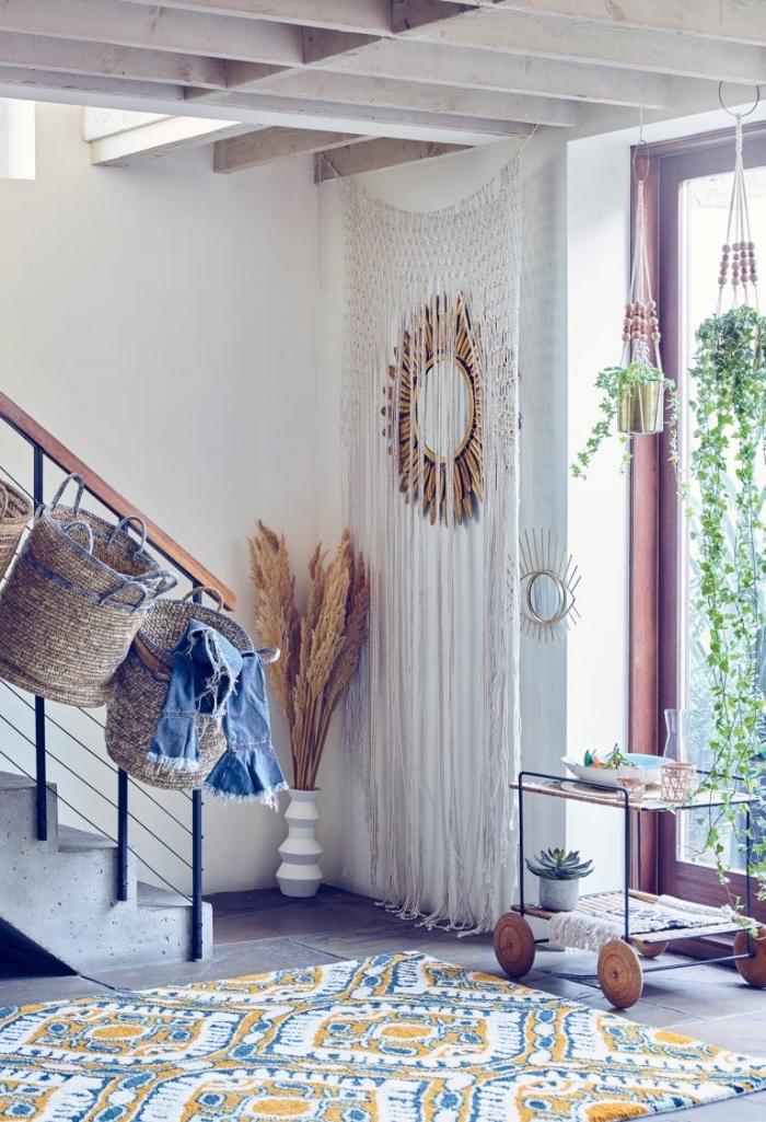 ideas sobre como decorar la entrada en estilo boho chic, colores claros y detalles en estilo bohemio, colores boho chic fotos