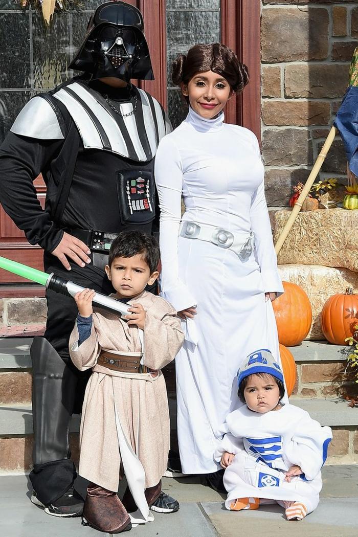 disfraces inspirados en la serie de películas Star Wars, personajes de los Juegos galácticos, disfraz de princesa Lea