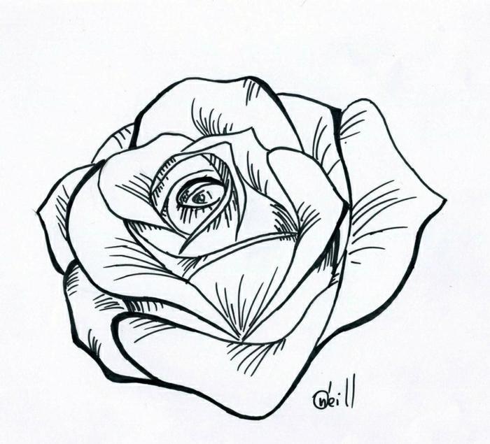 tatuajes sencillos de flores y rosas, diseños de tatuajes que inspiran, tatuajes bonitos simbólicos, ideas para tatuajes