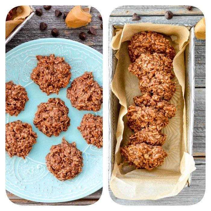 receta de galletas de chocolate con copos de avena sin harina, super originales ideas de postres saludables