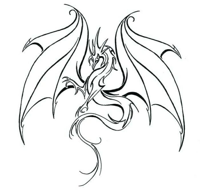 tatuaje temporal con dragón, diseños de tatuajes simbólicos, plantillas de tatuajes originales y fáciles de hacer en fotos