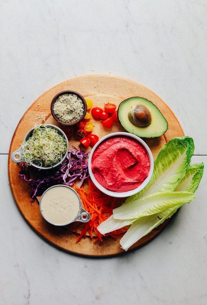ingredientes para hacer tacos de pollo y verduras, tacos de vegetales saludables y fáciles de hacer, ideas para comidas entrantes