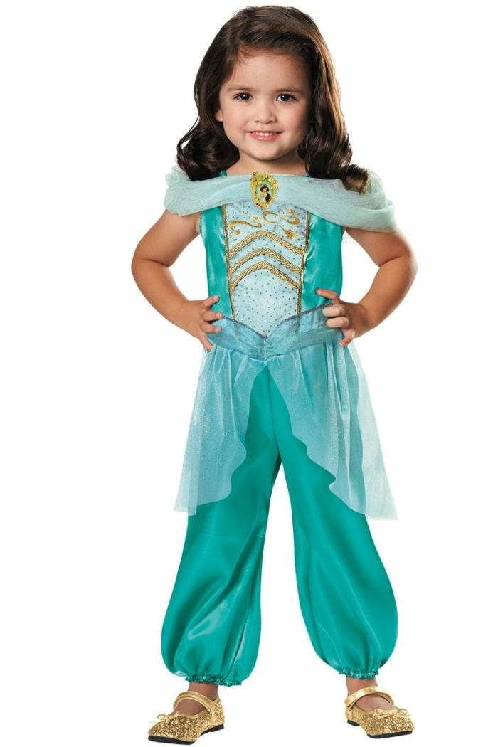 disfraz niña de Jasmine de Aladdin, disfraces originales para comprar para tu niña, ideas de disfraces para toda la familia