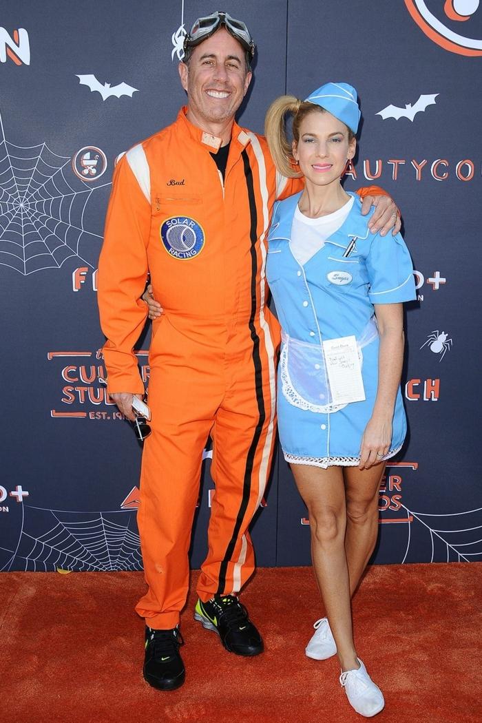 disfraces para parejas en estilo vintage, disfraces faciles de hacer para adultos, fotos de gente disfrazada para halloween