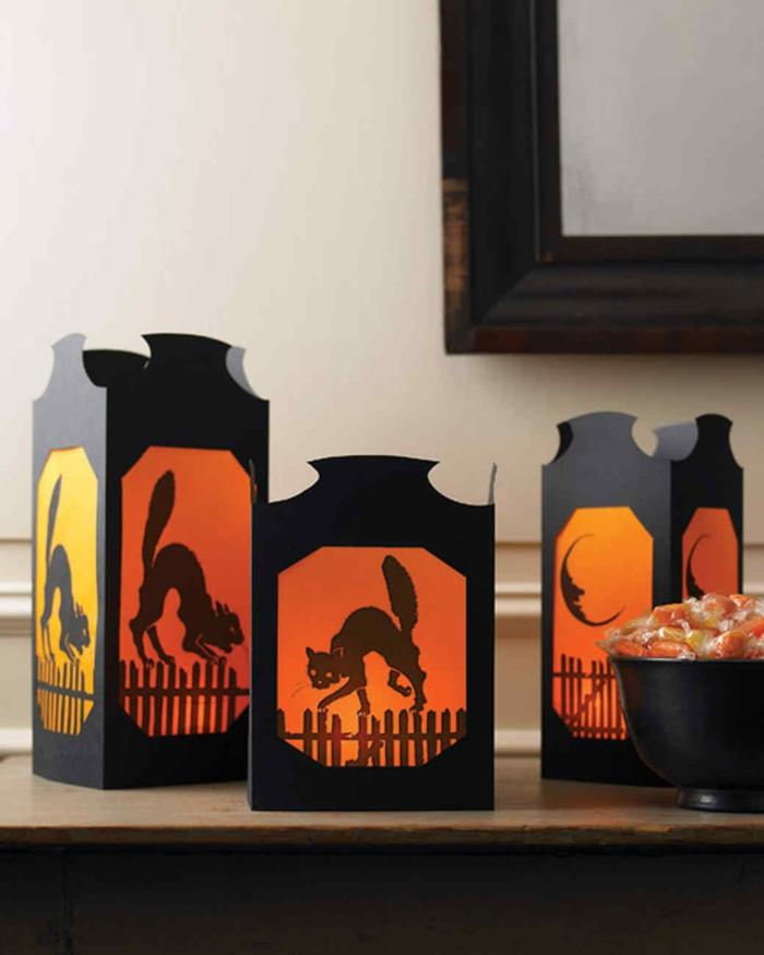 linternas DIY originales para Halloween hechas a mano, adornos halloween caseros, fotos de decoración Halloween DIY