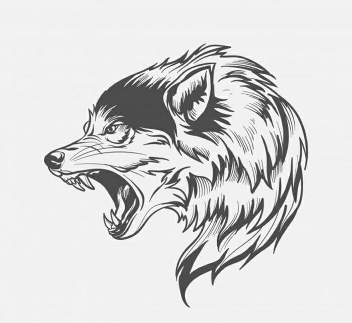 tatuaje lobo original, diseños de tatuajes temporales para niños y adultos, plantillas de tattoos bonitos y fáciles de hacer