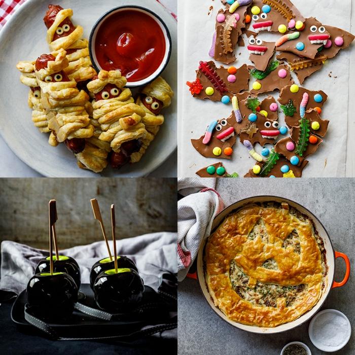 aperitivos para sorprender a tus invitados, entrantes y postres para tus niños, originales ideas de menú para cena de Halloween