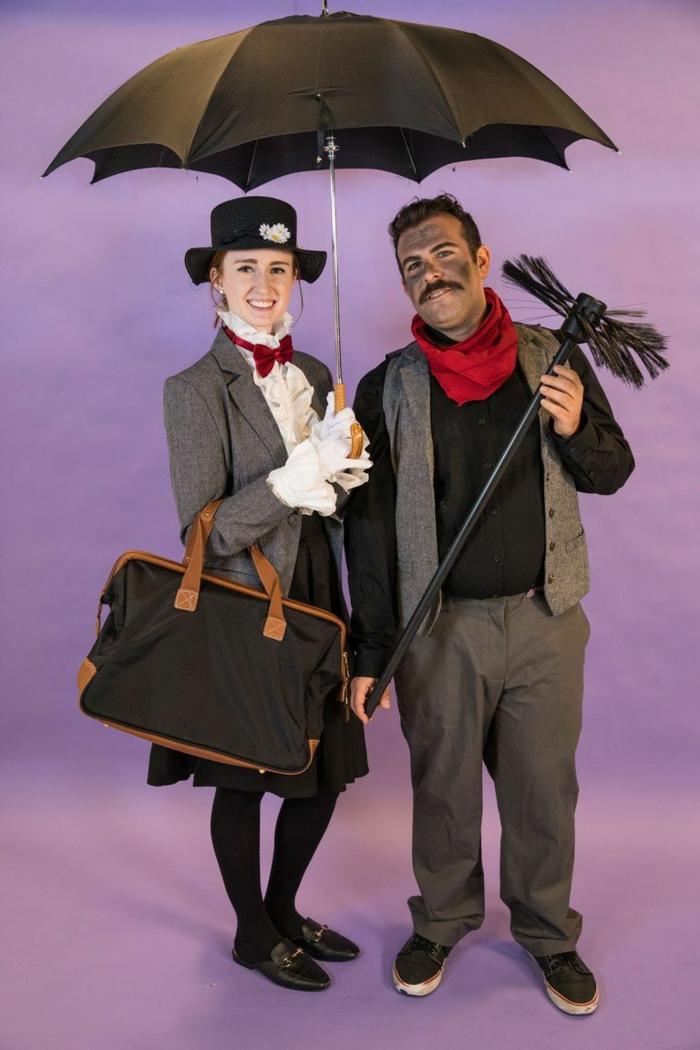 Marry Poppins y Albert el deshollinador, excelentes ideas de disfraces halloween originales para hombre y mujer en pareja