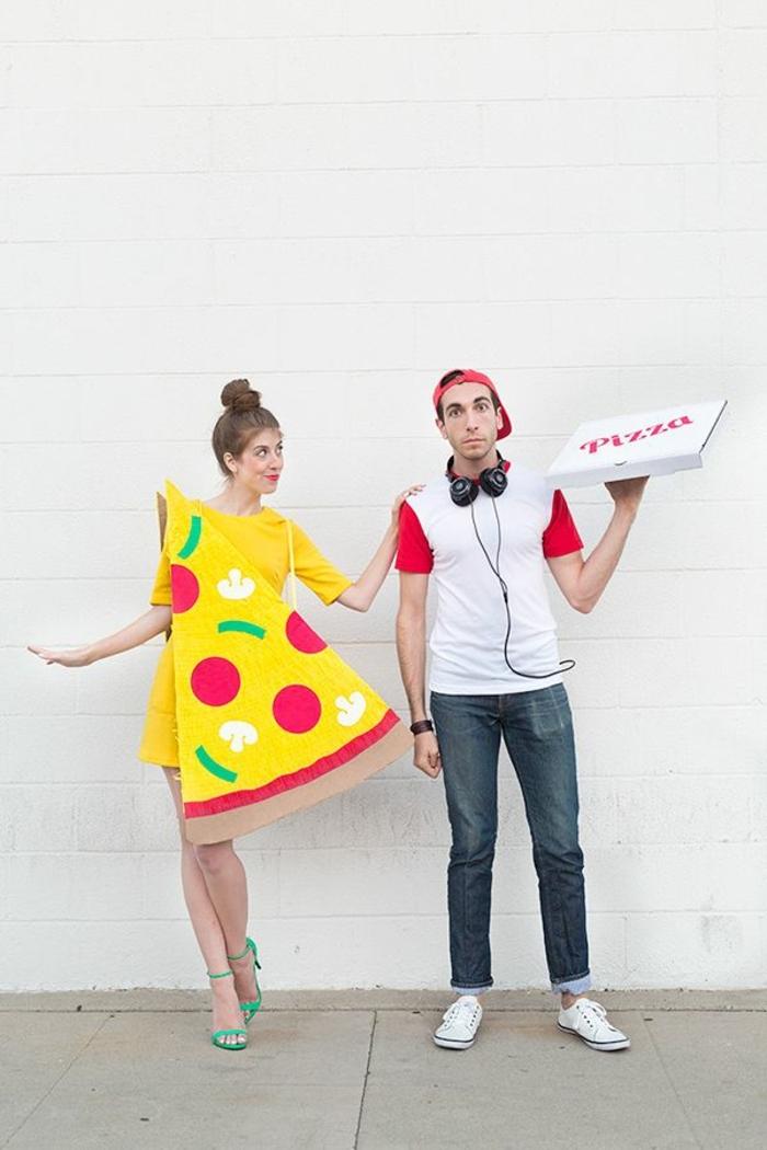 disfraces frescos y originales para una fiesta de Halloween, halloween 2019 ideas, disfraces para novios originales