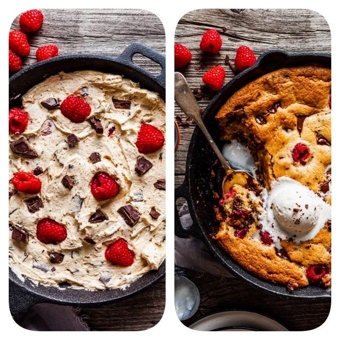 pastel rico hecho de masa de galletas americanas clásicas, ricas ideas de galletas paso a paso