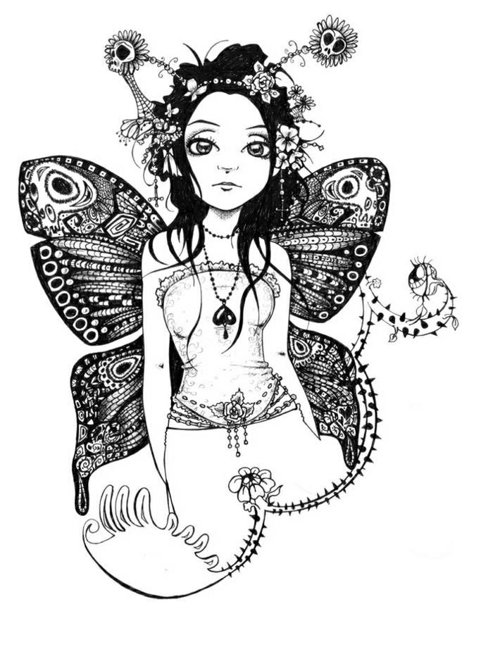 más de 100 imagenes de plantillas de tatuajes, tatuaje niña mariposa, diseños de tatuajes mariposa y sus significados