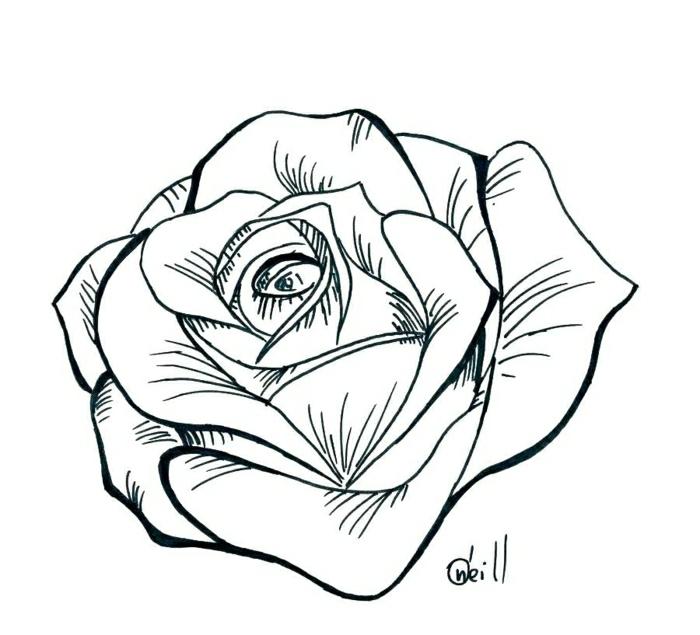 tatuajes de rosas bonitos con un grande significado, diseños de tatuajes en plantillas, fotos de tatuajes de flores originales