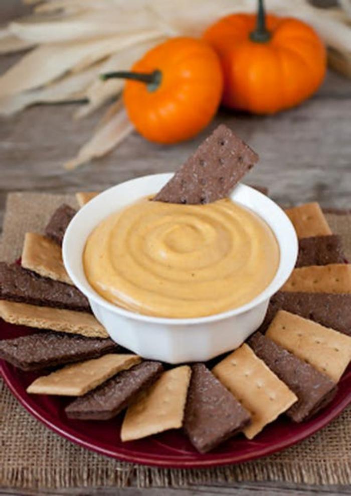 dip casero de calabaza con galletas, más de 100 ideas de recetas fáciles, rápidas y originales para hacer este otoño