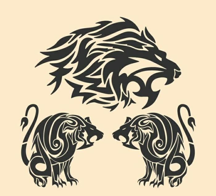 diseños de tatuajes tribales, plantillas de tattoos con animales, tatuajes de animales originales y fáciles de entintar en la piel