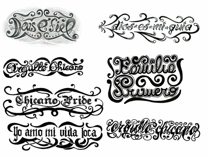tatuajes con letras ornamentadas, los mejores diseños de tatuajes temporales, diseños de tattoos bonitos para imprimir
