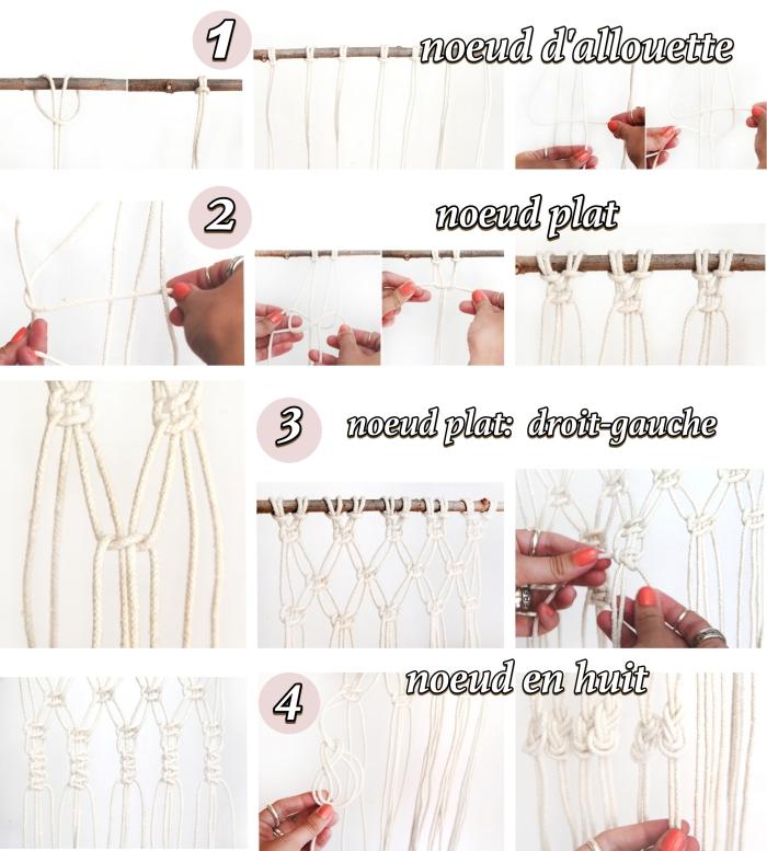 nudos macramé básicos en tutoriales en fotos y videos, como hacer una cortina macrame paso a paso, detalles para decorar la casa