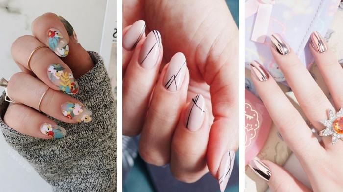 modelos de uñas que inspiran, uñas rosa palo con decorados bonitos, diseños de uñas originales en imágenes paso a paso
