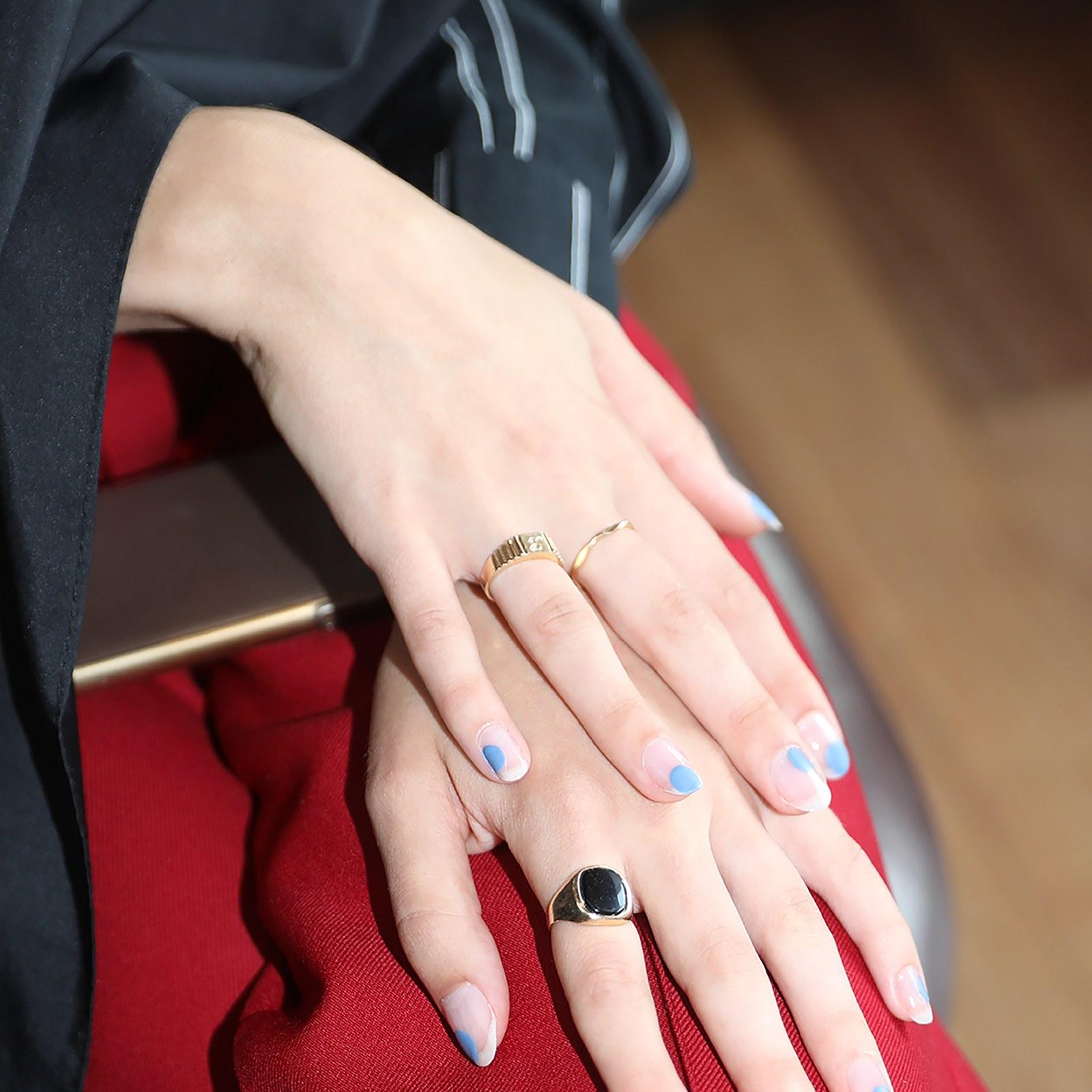 partes de uñas en colore,s figuras geométricas en la manicura, cuáles son las tendencias en uñas para 2020 en imagenes