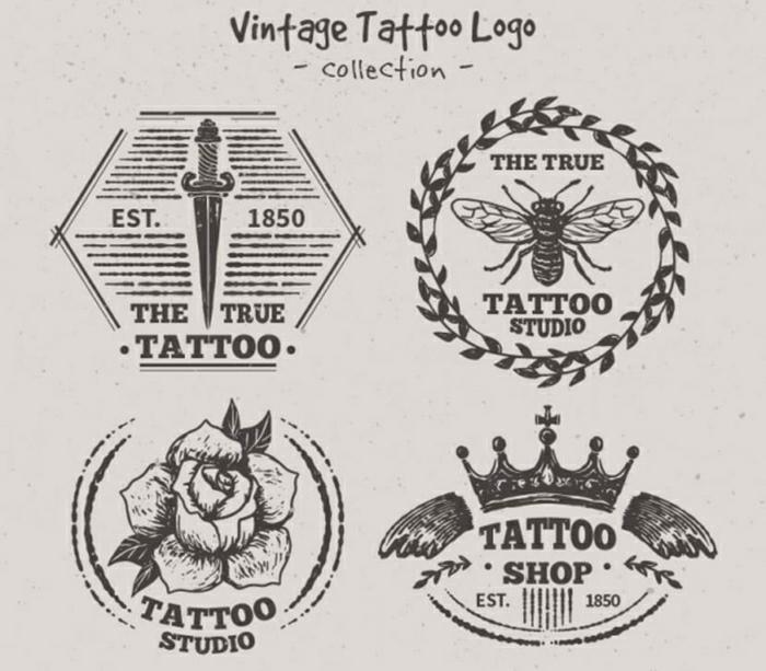 motivos para tatuajes en estilo vintage, tatuajes sencillos en estilo old school, ideas para tatuajes bonitos vintage