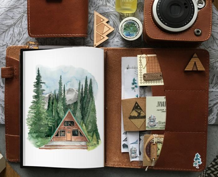 fantásticas ideas de regalos para viajeros en más ed 70 fotos, precioso cuaderno de viaje con tapa de cuero, ideas de regalos DIY