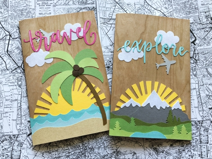 como hacer un cuaderno de viaje personalizado hecho a mano, tutoriales en fotos y videos, regalos para viajeros