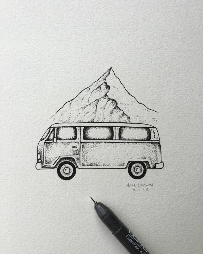 las mejores propuestas de dibujos para principiantes, dibujos con montañas, esbozos de dibujos fáciles