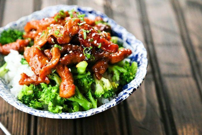 arroz con carne y brócoli, ideas para preparar en casa, recetas sencillas y ricas para principiantes, recetas para aprender