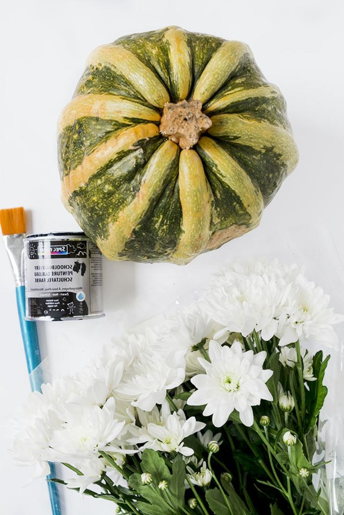 materiales necesarios para hacer calabazas decorativas para la casa en otoño, manualidades de otoño originales paso a paso