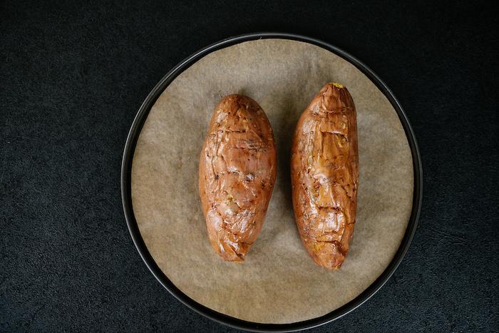 batatas al horno para rellenar, ideas de recetas con batatas, cenas rapidas y faciles en fotos paso a paso