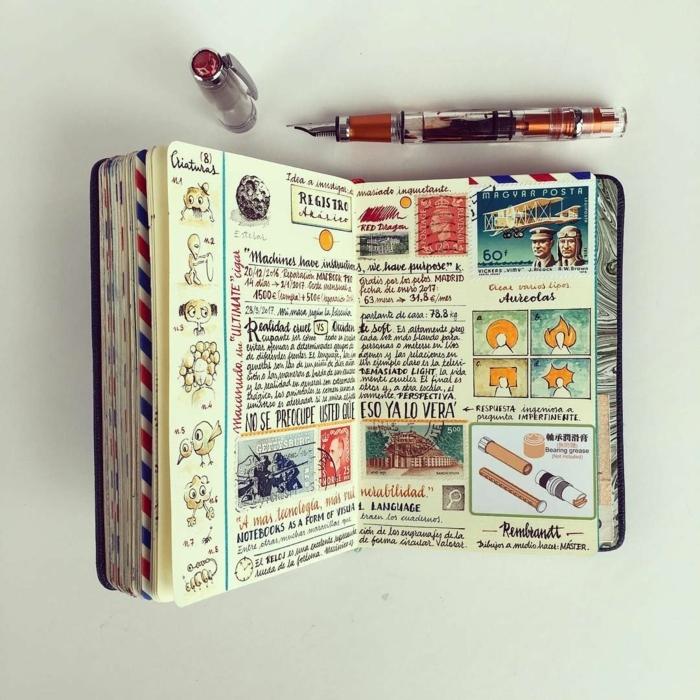 cuaderno de viaje DIY en estilo vintage, cuales son los mejores regalos para viajeros, fotos con ideas de regalos