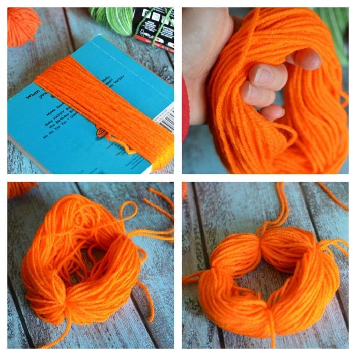 como hacer pompones de lana paso a paso, ideas de manualidades originales para decorar el hogar