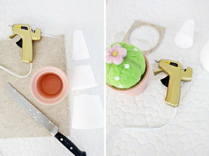 propuestas de regalos para abuelas, alfiletero DIY con decoracion flores, ideas de pequeños regalos caseros en imágenes