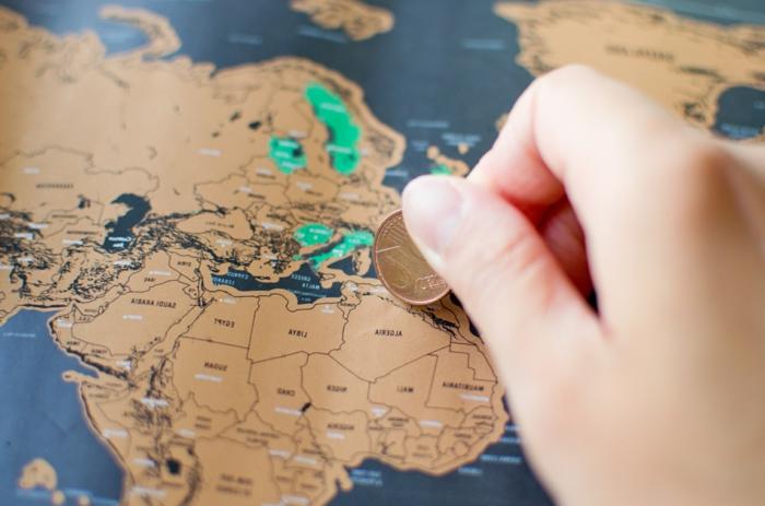 mapa apra rascar para regalar a tu mejor amiga, fantásticas ideas de regalos para mejores amigas en bonitas imagenes