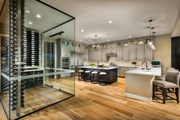 cocinas completas con barras, ideas sobre como amueblar una cocina integrada en salón, cocinas abiertas modernas